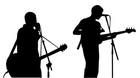 musicians-silhouettes Stock Vector - 951519