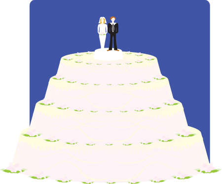 vector illustration - wedding cake Stock Vector - 951685
