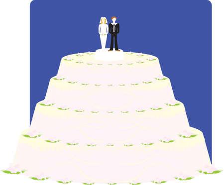 vector illustration - wedding cake