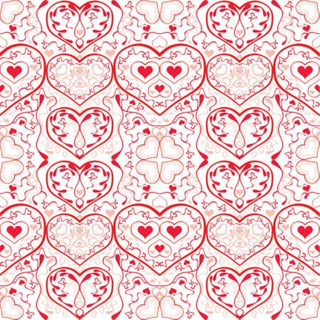 vector illustration design elements and borders - hearts Illustration