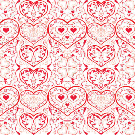vector illustration design elements and borders - hearts Stock Vector - 951691