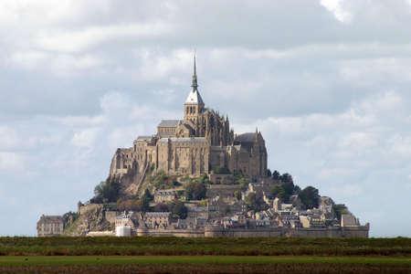 Mont Saint-Michel, Francia  Foto de archivo