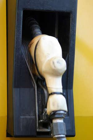 Gas bomba en la estaci�n de gasolina