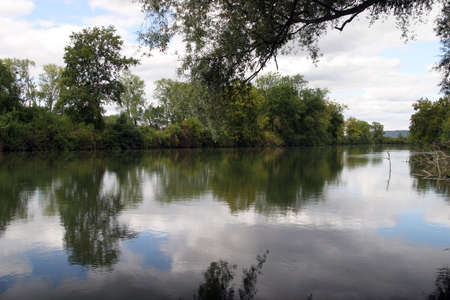 A romantic serene scene of a river, French countryside Stock Photo - 2410262