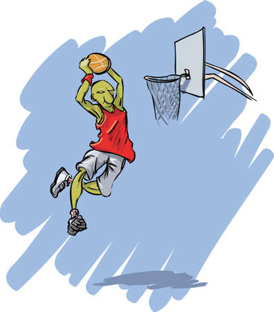 Basketball action Vector