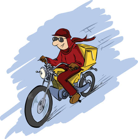 delivery man Stock Vector - 8632343