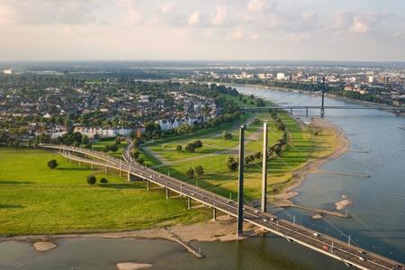 rhein: Bridges at Rhein river valley, Duesseldorf, Germany