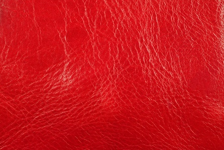 Red fine leather texture background photo