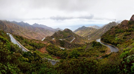 Panoramic shot of national park of Anaga, Tenerife, Canary Islands; Spain. photo