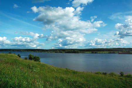 calmness: River Volga. Russia