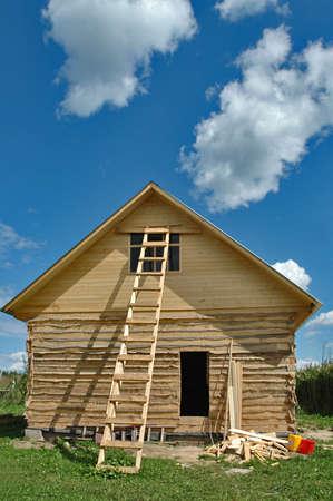 Building Of A Bathhouse photo
