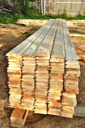 wooden metre: The boards combined in a stack