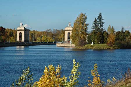 sluice: Sluice on the chanel Moscow-Volga