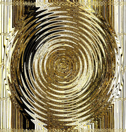 poured: Abstract background from a gold spiral