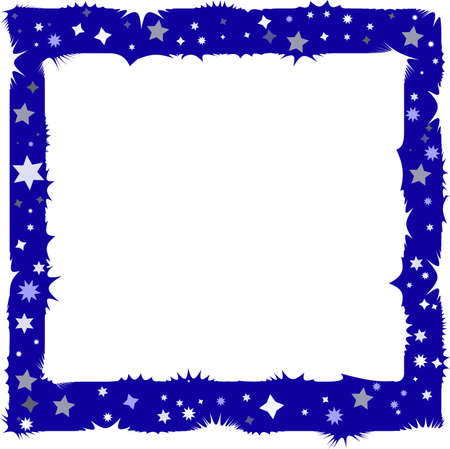 silvery: Decorative dark blue framework with rough edges