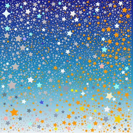 lilas: Background from gold and silver stars Stock Photo
