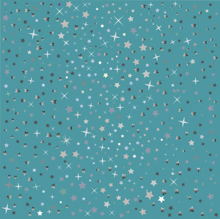 silvery: Background with silvery stars Stock Photo