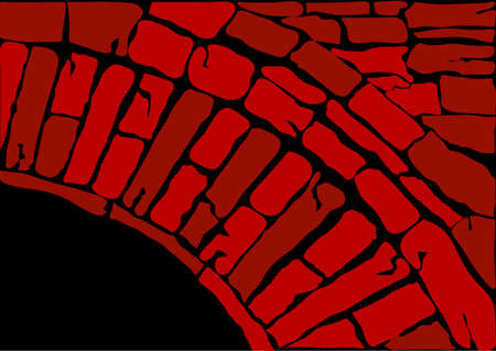 Abstract red-black brick background photo