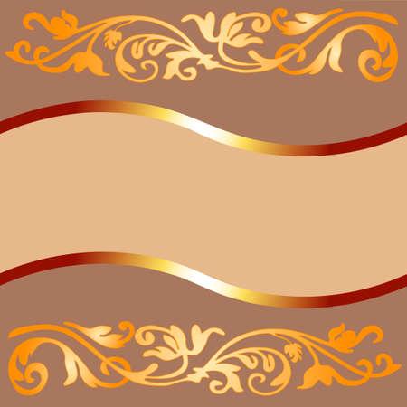 bunner: Vintage coffee frame (vector) Illustration