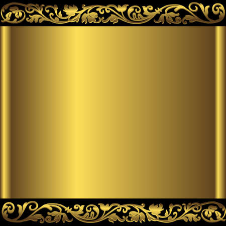 Golden abstract background (vector) Illustration