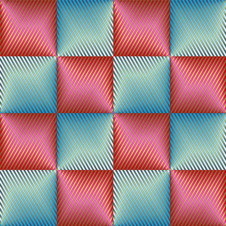 checkered volume: Checkered background from striped pink and blue squares