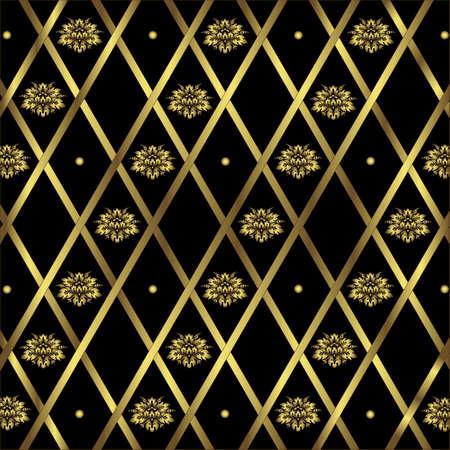 diagonal stripes: Black and golden geometric background (vector)