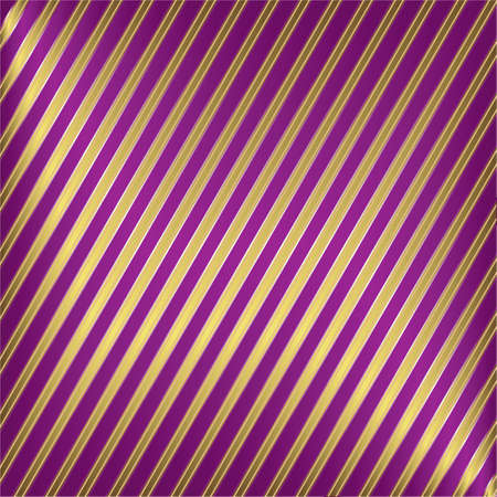 Diagonal lilas and golden striped background Stock Vector - 4269563