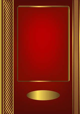 title page: La portada de la gran �lbum rojo (vector)