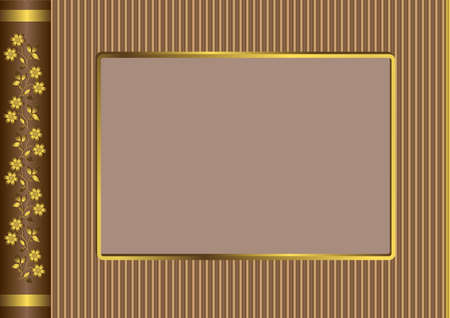 shone:  The title page of a brown album (vector)