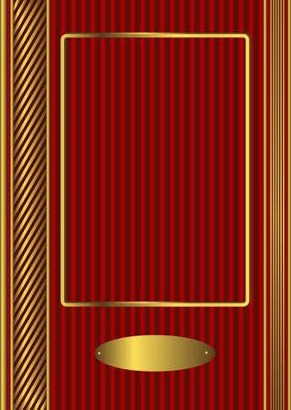 title page: La portada de un �lbum rojo