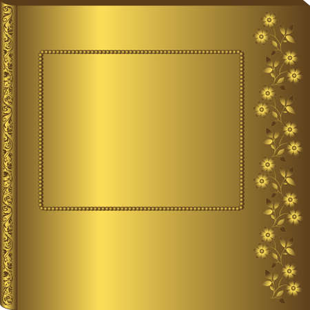 Vintage golden album cover (vector)  Vector