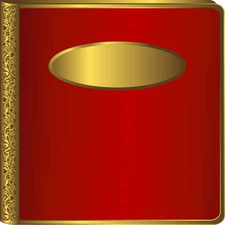 Big red vintage photo album cover (vector)  Stock Vector - 4320543