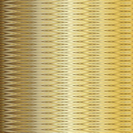 Gentle golden and silvery  zig-zag background.  Vector