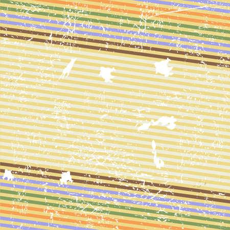 Retro striped grunge background (vector) Vector