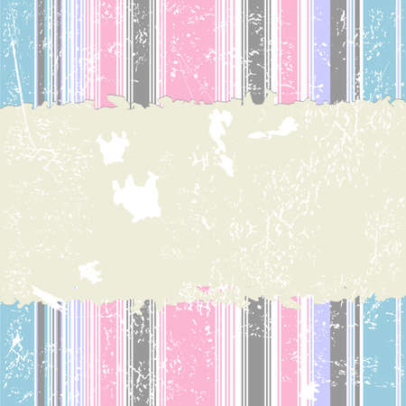 Retro striped grunge background (vector) Stock Vector - 4320559