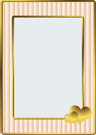 pictureframe: Simple pink striped framework for a wedding photo (vector) Illustration