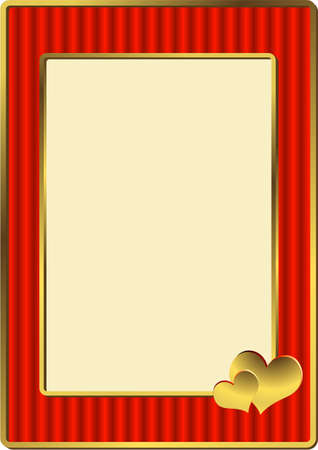 Red striped framework for a wedding photo (vector) Vector