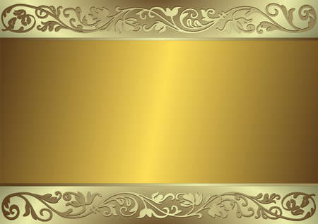 shone: Gentle golden and silvery background (vector) Illustration