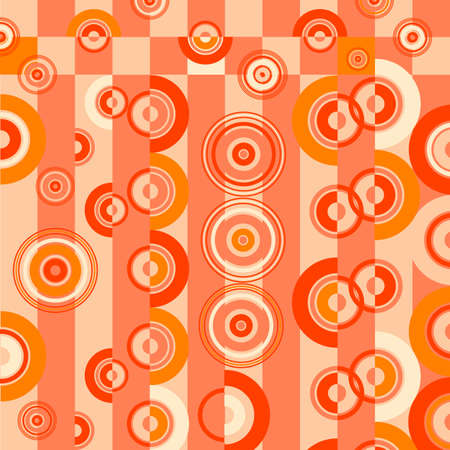 Retro grunge background with concentric circles Stock Vector - 4403508
