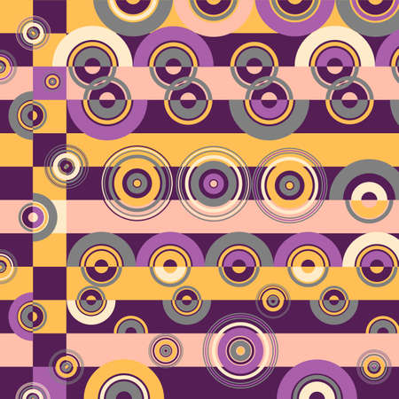 Retro grunge background with concentric circles Stock Vector - 4403510
