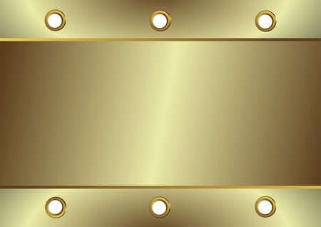platin: Silbrige Metall Platin mit runden �ffnungen auf Kanten Illustration