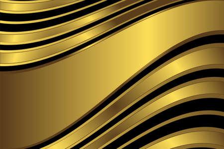 diagonal stripes: Diagonal golden and black  stripes  background (vector)