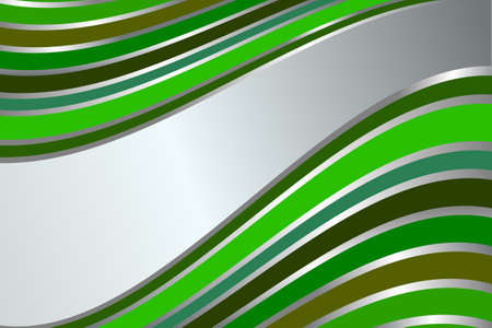 Diagonal silvery and green  stripes  background Vector