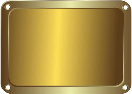 brushed gold: Metal golden platinum with round apertures on edges