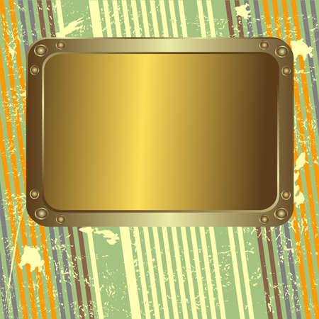 platinum background: Retro striped grunge background with  metal golden platinum (vector)