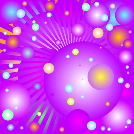 violette: Abstract background with shapes