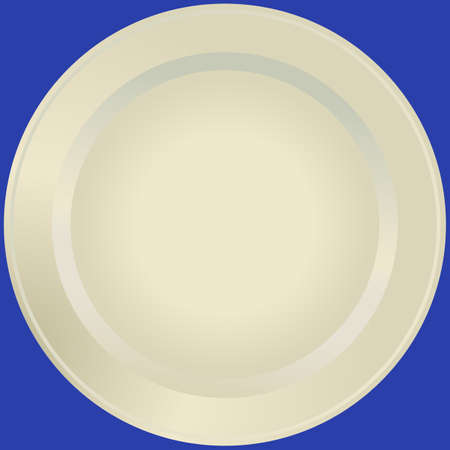 Old-fashioned white plate (vector) Vector