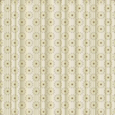 Silvery striped floral  background with silvery flowers Vector