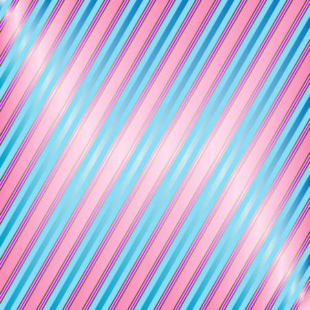 Diagonal blue and pink striped background Vector