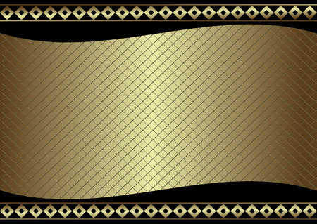 aperture grid: Trellised silvery and golden  frame (vector) Illustration